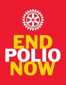 "Rotary International with Bill and Melinda Gates' ""END POLIO NOW"" campaign"
