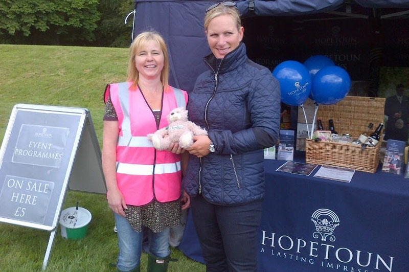 Zara Phillips at Hopetoun House