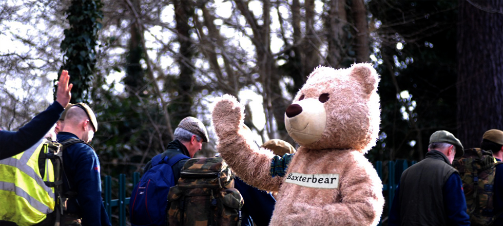 high 5 for Baxterbear on Coldstreamers march.