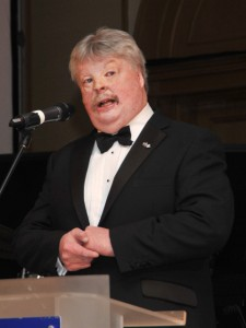Simon Weston speaking at Glasgow Ball
