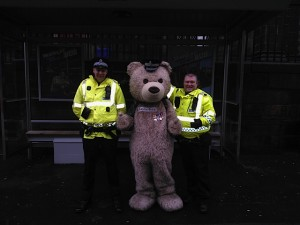 Baxterbear catching up with Police Scotland Edinburgh Do you think the Hat suits me