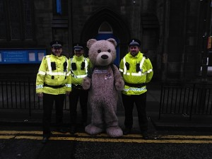 Thank you to Police Scotland Edinburgh for helping me out today