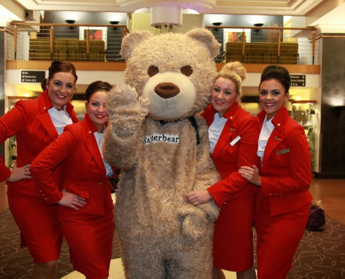Baxterbear and the girls from Virgin.
