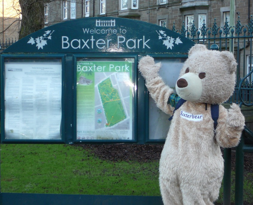 In Baxter Park, Dundee