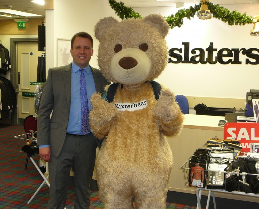 Baxterbear meeting store manager David Mooney